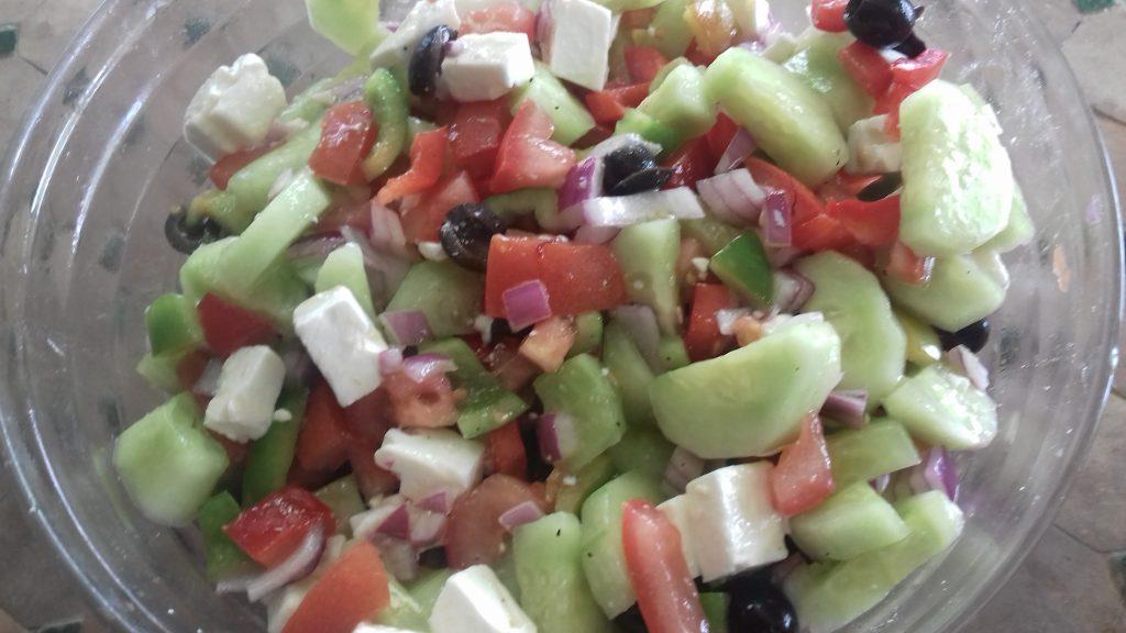Salade grecque au safran