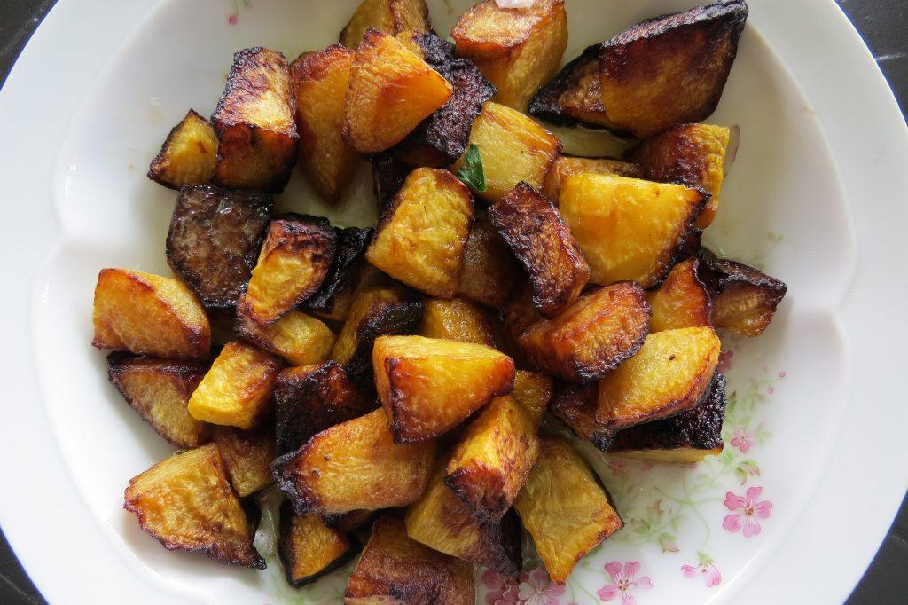 Pommes de terre sautées au safran