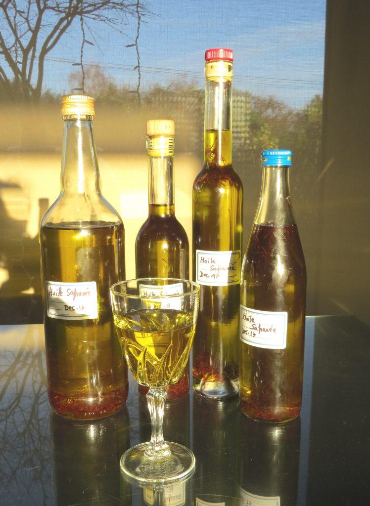 Huile d'olive aromatisée au safran