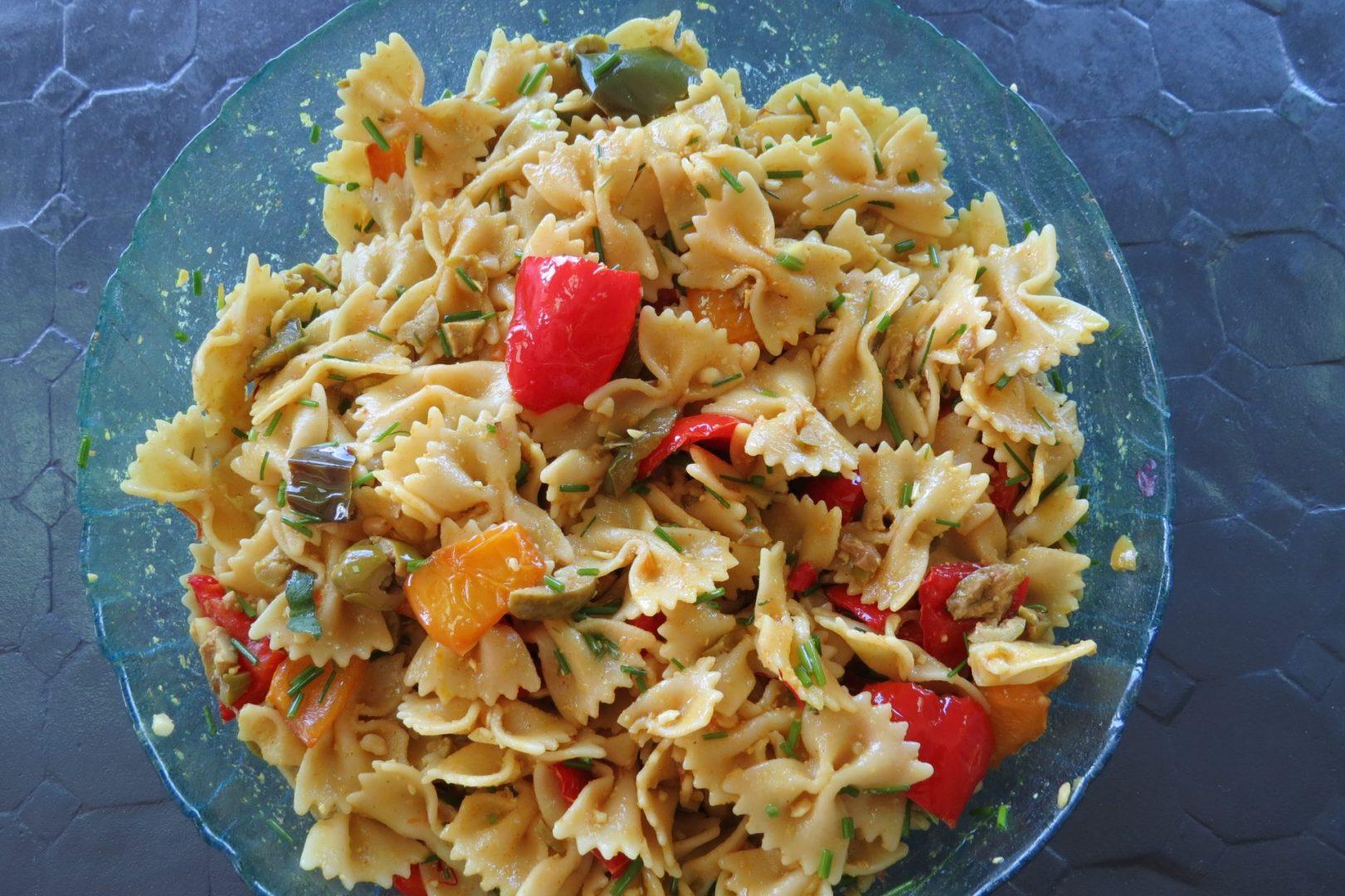recette salade pâtes au curry